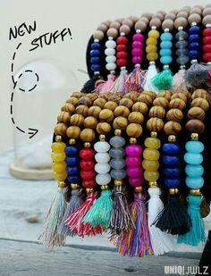 NEW STUFF handmade by UNIQ|JWLZ ; the 'Island girl' bracelets. Available at www.facebook.com/uniq-jwlz