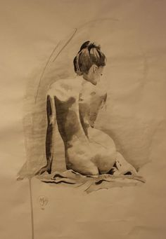 Buy Female back study, Ink drawing by Mark Purllant on Artfinder. Back Drawing, Drawing Body Poses, Figure Painting, Figure Drawing, Painting & Drawing, Woman Drawing, Life Drawing, Portraits, Acrylic Painting Canvas