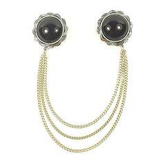 streitstones platinierte VINTAGE Doppelbrosche mit Kette bis zu 50 % Rabatt Lagerauflösung streitstones http://www.amazon.de/dp/B00T3LP6CE/ref=cm_sw_r_pi_dp_xdY6ub1G9B8G6, streitstones, Brosche, Broschen, brooch, brooches, bling, silver, gold, silber, Schmuck, jewelry, swarovski, fashion, accessoires, glas, glass