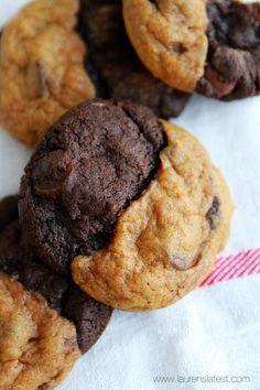 Double Chocolate Pumpkin Caramel Swirl Cookies from laurenslatest.com