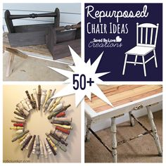 The abundance of curbside discarded chairs in my area has me looking for ways to repurpose old chairs and their parts.  Today's post brings my favorite finds for DIY upcycling inpsiration.  I truly...