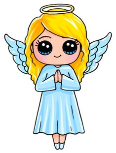 Angel by:draw so cute cute cartoon drawings, cute drawings of people, kawaii Kawaii Girl Drawings, Cute Cartoon Drawings, Cute Girl Drawing, Kawaii Art, Disney Drawings, Cute Kawaii Girl, Drawing Disney, Cute Drawings Of People, Drawing People