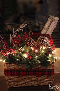 make faux birch logs using foam pool noodles, christmas decorations, crafts, seasonal holiday decor
