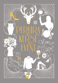 Grafisch ontwerp en illustratie, uitnodiging voor Pereira