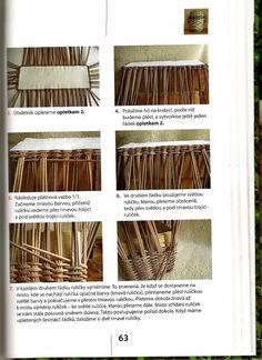 návod na truhlík | Pletení z papíru