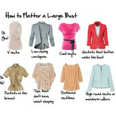 How to flatter a large bust.