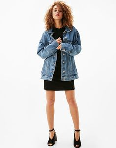 Jean jackets - Outerwear - CLOTHING - WOMAN - Bershka United States