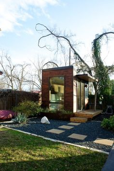 Welcome to Sett Studio, Austin, TX. We build modern energy efficient homes, studios, and tiny prefab homes to the highest standards of green design. Backyard Office, Backyard Studio, Garden Office, Outdoor Office, Mini Loft, My Dream Home, House Tours, Modern Architecture, Tiny House