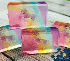 transparent handmade unicorn soap