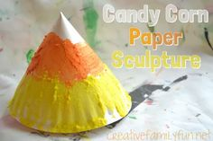 Easy Candy Corn Paper Sculptures from Creative Family Fun