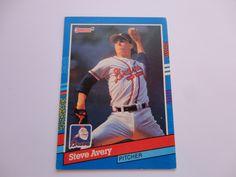 Steve Avery Donruss 91 Baseball Card.
