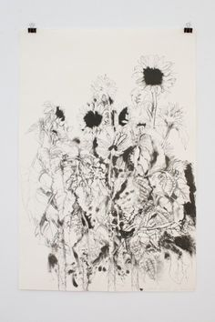 RA Summer Exhibition 2015 work 763 :SUNFLOWERS-SECOND STATE WITH BLACK-EYED SUSAN by Jim Dine Hon RA, £5900.