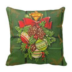 ヴィンテージのクリスマスの季節的な枕 クッション