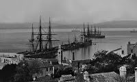 The New Mole, Gibraltar, in the 1860s by George Washington Wilson & Co - links to large collection of 1860s photographs of Gibraltar at http://gibraltarphotos.blogspot.co.uk/