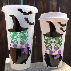 Starbucks Halloween Cups, Starbucks Cup Art, Custom Starbucks Cup, Starbucks Tumbler, Starbucks Venti, Personalized Starbucks Cup, Personalized Cups, Iced Coffee Cup, Disney Cups