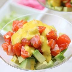 Avocado and salmon tartare with mango habanero sauce – Laylita's Recipes Grilling Recipes, Seafood Recipes, Mexican Food Recipes, Chicken Recipes, Cooking Recipes, Mexican Cooking, Filipino Recipes, Meal Recipes, Recipies