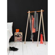 Portant bois, Dress Up avec barre aluminium coloré, Nomess