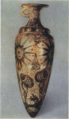 Minoan vessel. Marine Style decoration. 1500 BC. | sidorova_iskusstvo_egeiskogo_mira-118.jpg (650×1126)