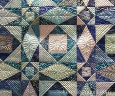 Another illusion design--all straight lines with curves illusion.  Marit Lauve, Storm at Sea, seen at Kameleon Quilt