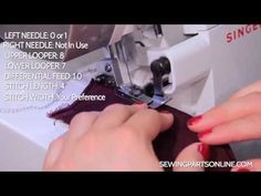 Serger Tutorial: Blind Hem Stitch - Sewing Parts Online - Everything Sewing, Delivered Quickly To Your Door Sewing Lessons, Sewing Hacks, Sewing Tutorials, Sewing Tips, Tutorial Sewing, Juki Serger, Serger Sewing, Blind Hem Stitch, Serger Projects