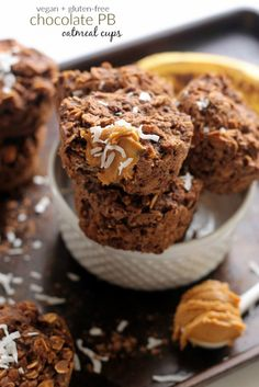 Chocolate Peanut Butter Oatmeal Cups...vegan and gluten-free!