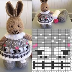 Knitting projects toys little cotton rabbits Ideas for 2020 Knitted Bunnies, Knitted Animals, Knitted Dolls, Crochet Dolls, Knitting For Kids, Knitting Projects, Baby Knitting, Crochet Projects, Knitting Toys
