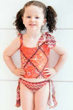 Coral Toddler/Girl Tankini - Lemons & Limes Kids Swimwear #coraltankini #kidsswim #girltankini #coral