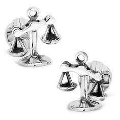 Cufflinks Inc Mens Moving Parts Scales Of Justice Cufflinks (silver) - Jewelry