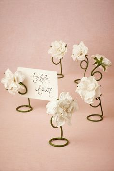 Petaled Card Holders 6 In Décor Table Signage At Bhldn Wedding Place