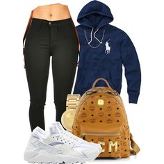 """"""" I'm gone keep grinding cause I love this """" by mindlesspolyvore on Polyvore featuring polyvore, fashion, style, NIKE, MCM, Movado, Sterling Essentials, Case-Mate and Polo Ralph Lauren"""