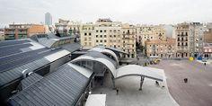 Barceloneta Market by MiAS Architects Slide Background, Background Images, Public Square, Glass Facades, Dezeen, Outdoor Furniture, Outdoor Decor, Modern Architecture, Sun Lounger