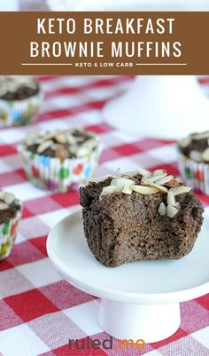 A keto breakfast brownie muffins recipe. Which makes a great breakfast alternative. Or just as a chocolatey snack! #ketodiet #ketorecipes #ketogenicdiet