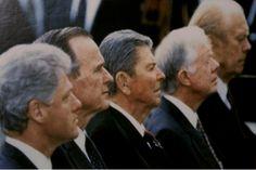 President Ronald Reagan wearing Starkey hearing aids.