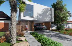 Residência SSP, no condomínio Parque Aranguá, no bairro Parque Tauá em Londrina - PR. Arquitetura: Architec Projetos + VHS Arquitetura.