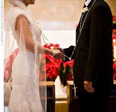 A Catholic wedding lasso...the one thing I love about Catholic weddings, so meaningful .