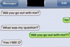 Will u go out with me?