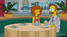 Maude and Ned Flanders.