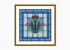 Cross Stitch Pattern, Modern Cross Stitch, NOUVEAU #1 cross stitch pattern - Downloadable PDF