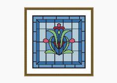 Cross Stitch Pattern, Modern Cross Stitch, NOUVEAU #1 cross stitch pattern - Downloadable PDF