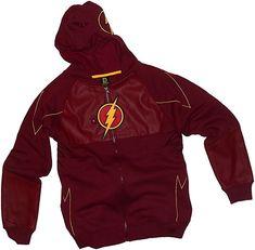 68297c7cc Costume -- CW s The Flash TV Show Adult Mask Hoodie Fleece Sweatshirt