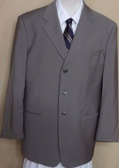 Armani Tan 100% Wool 3 Button Italian Made Sport Coat Size 44R  #Armani…