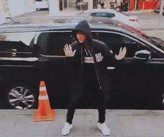 Jin (literally) on the street #WhatEven #Omg #Jin