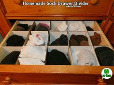 How many of you are tired of your junkie (unorganized) sock drawer? I was folding clothes and was about to put away the socks and I realized that I was tota