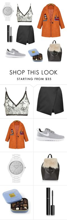 """""""Je n'aime pas les chemises"""" by her-aesthetic on Polyvore featuring Meadham Kirchhoff, Topshop, NIKE, MICHAEL Michael Kors, Chanel, women's clothing, women's fashion, women, female and woman"""