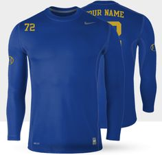Men's fitness clothing- Nike Hyperwarm LS Crew iD Shirt