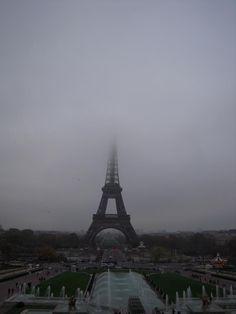Paris with a foggy eifeltower