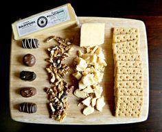 Chocolate truffles, walnuts, Cognac BellaVitnao® and graham crackers