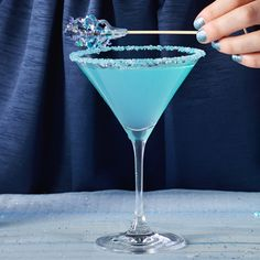Best served with warm weather wishes! Throw a winter blues bash to celebrate making it through the blustery winter months!   The Winter Blues-tini 1 part Pinnacle® Original Vodka 1 part lemonade 1⁄2 part Dekuyper® Pucker® Island Punch Schnapps Blue rock candy