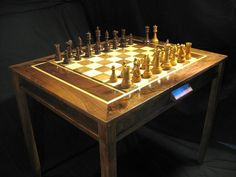 CHess set Handmade Chess Table and Staunton by JimArnoldsChessSets, $1350.00