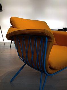 Détail du fauteuil de Carlo Colombo pour San Patrignano - Salone del Mobile 2014